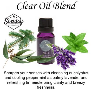 Clear Scentsy Oil Blend