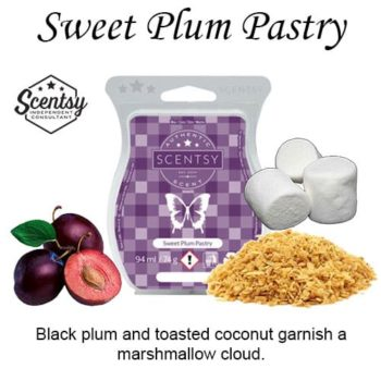 Sweet Plum Pastry Scentsy Wax Melt