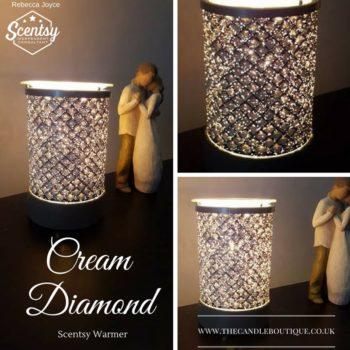 Cream Diamond Lightbulb Scentsy Wax Warmer