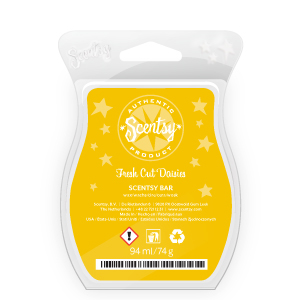 Scentsy fresh cut daisies scented wax bar
