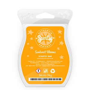 scentsy sunburst blooms scented wax bar
