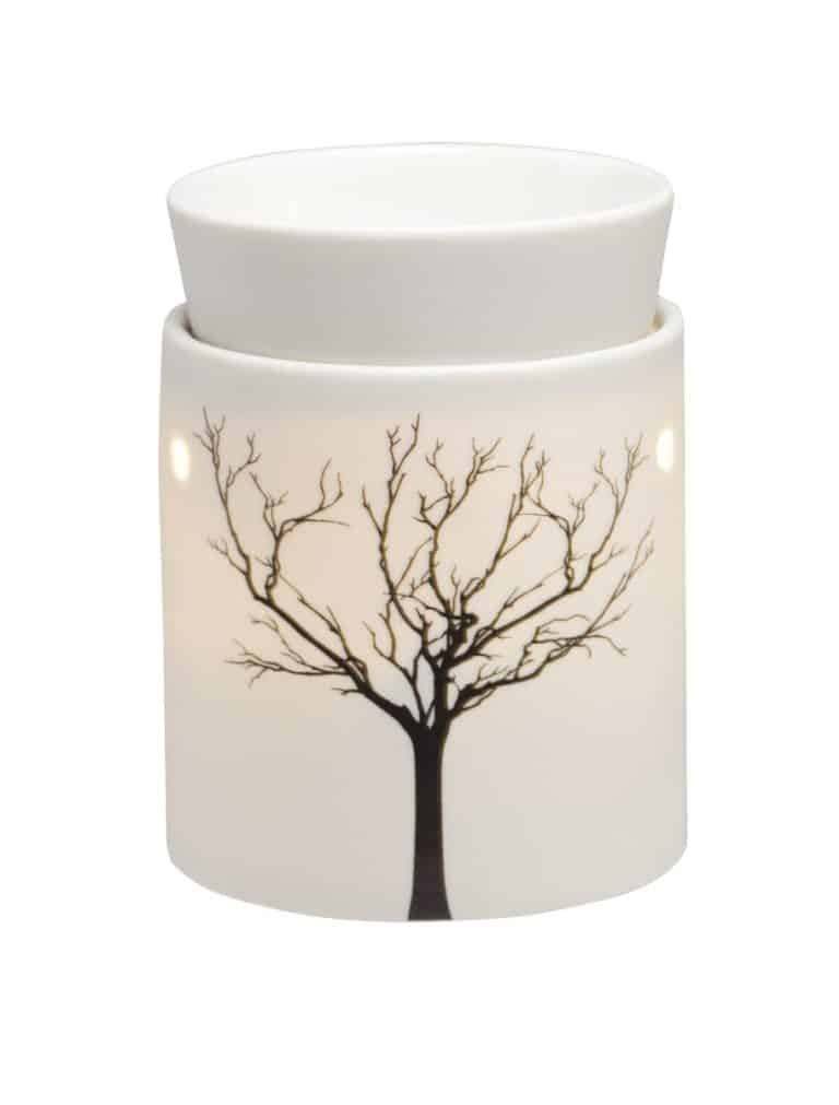 Scentsy Tilia Mid-Size Warmer – Depicting The Shadow of a Bare Winter's Tree