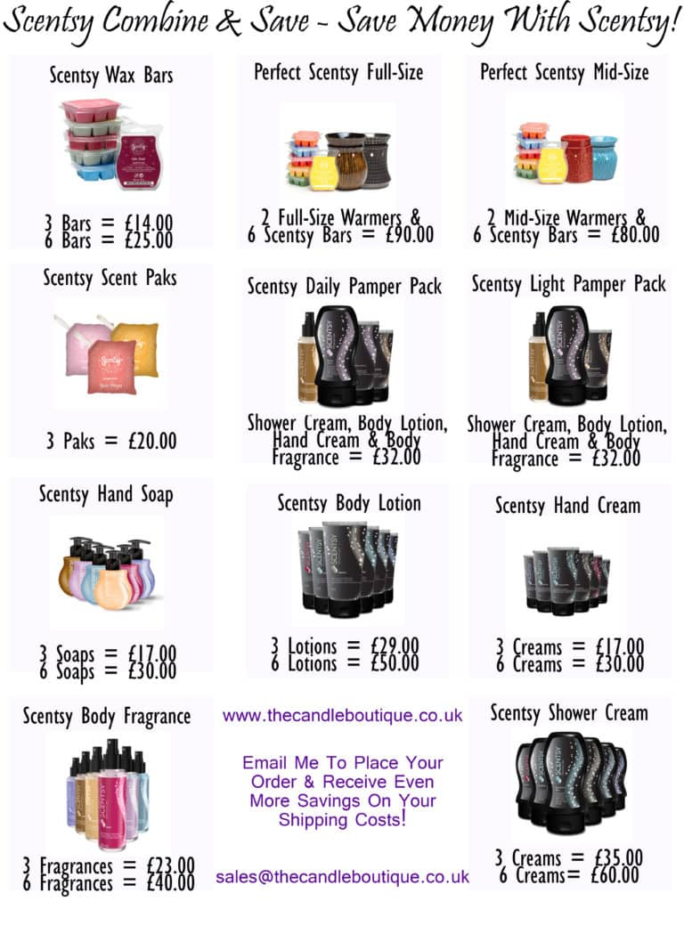 Save Money With Scentsy – Introducing The Combine & Save Packs