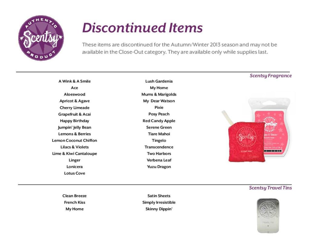 Scentsy-Discontinued-List-spring-summer-2013