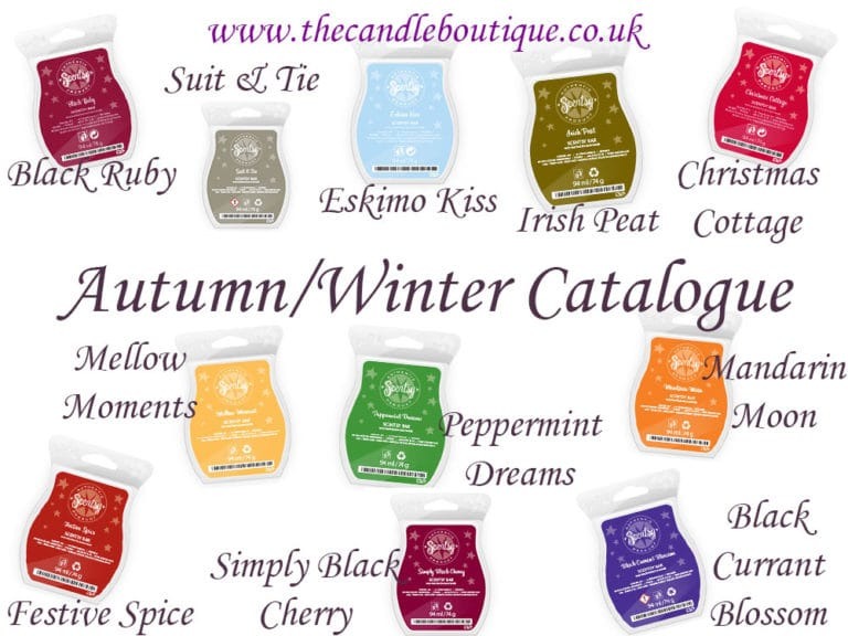 New Autumn/Winter Scentsy UK Scented Wax Fragrances