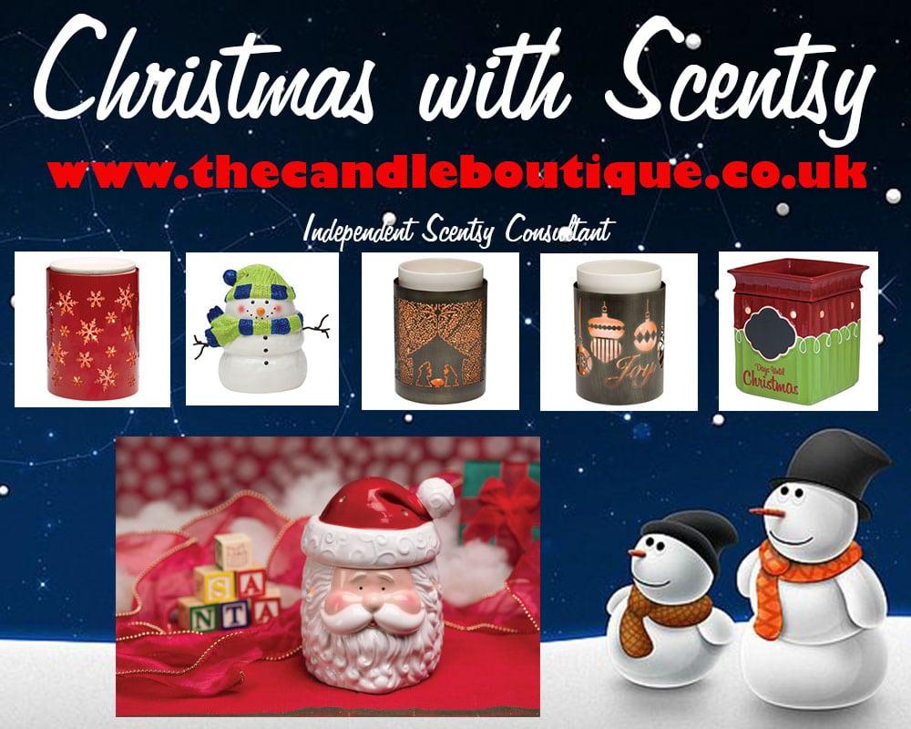 scentsy christmas electric scented wax warmers and scented wax