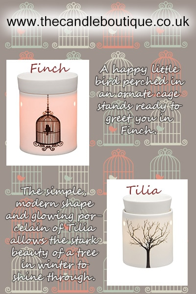Scentsy Tilia and Finch electric warmer pots