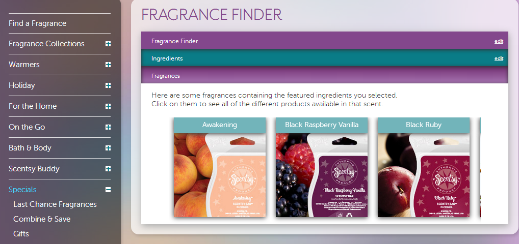Scentsy Fragrance Finder