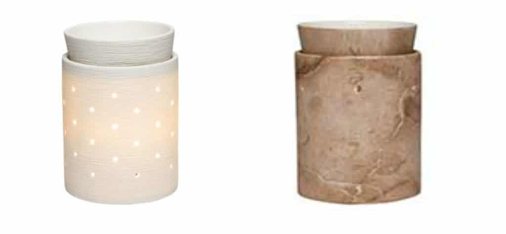 Scentsy Etched Core and Travertine Warmers