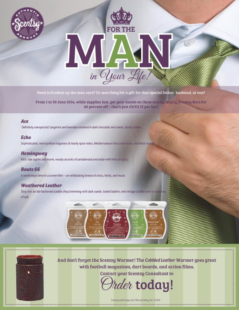 Scentsy For Men Father's Day 2014