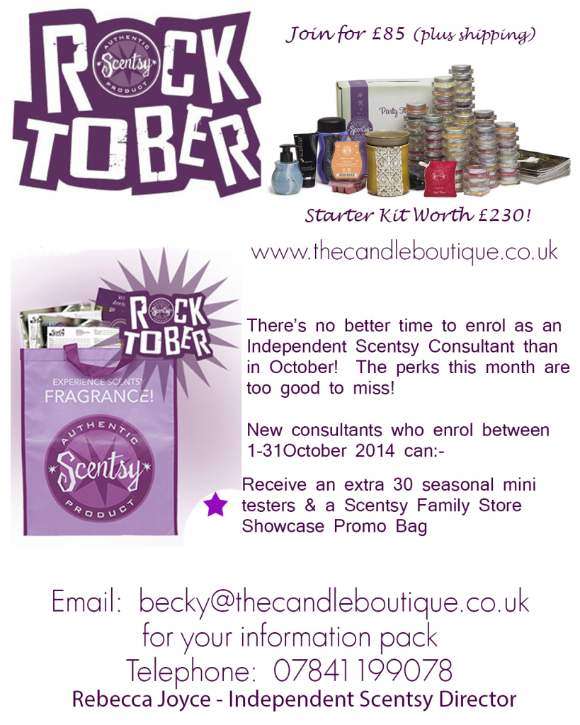 Scentsy Rocktober Joining Offer