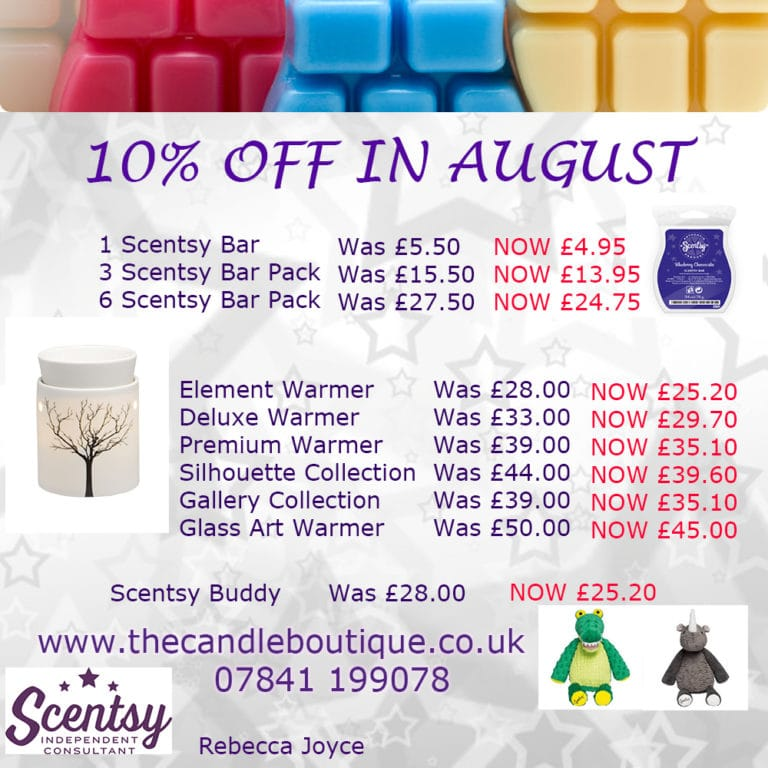 Scentsy Sale – 10% Off Throughout August 2015!