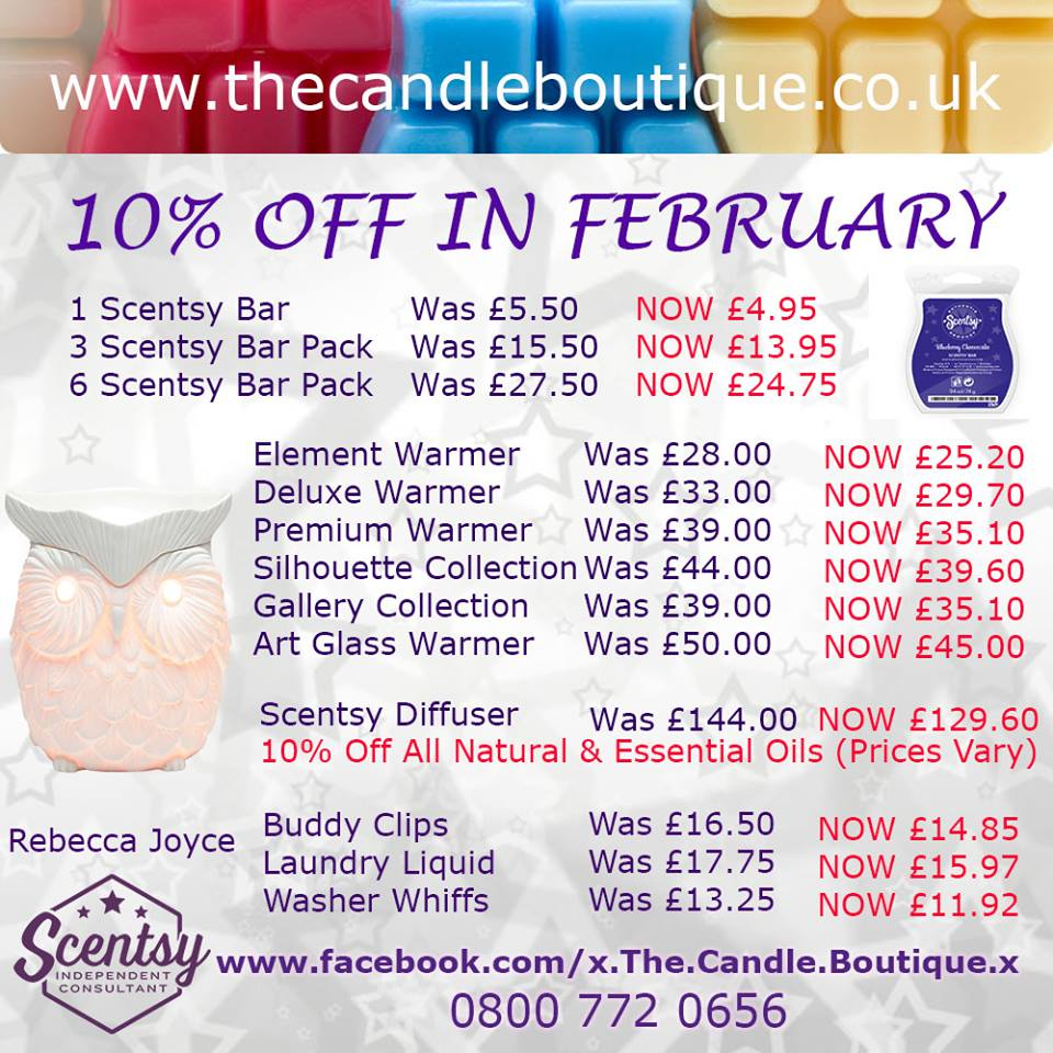 Scentsy 10% Sale