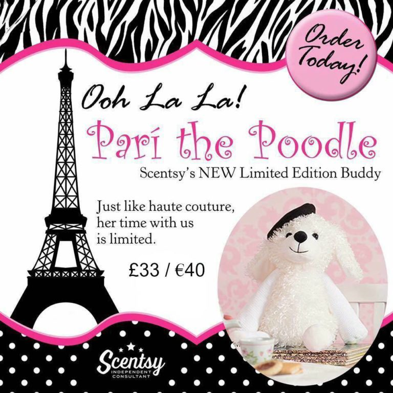 Say Bonjour To Pari The Poodle Dog Scentsy Buddy