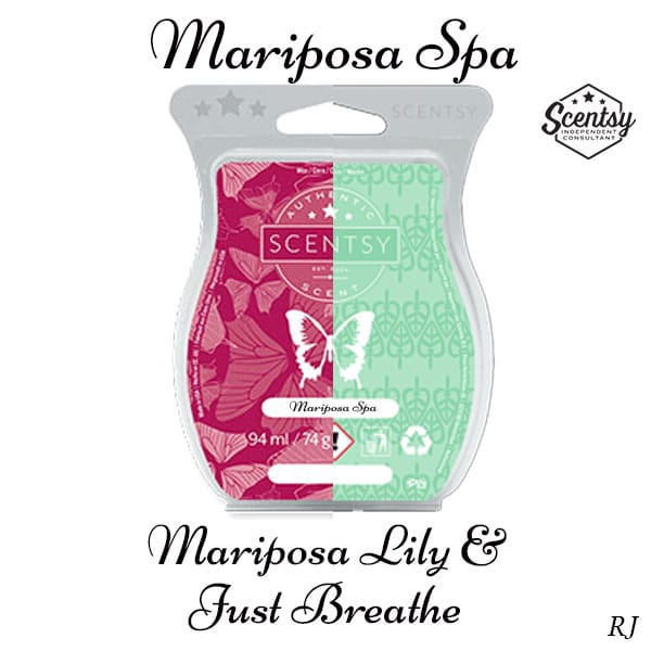 Scentsy Mariposa Lily and Scentsy Just Breathe Mixology Recipe