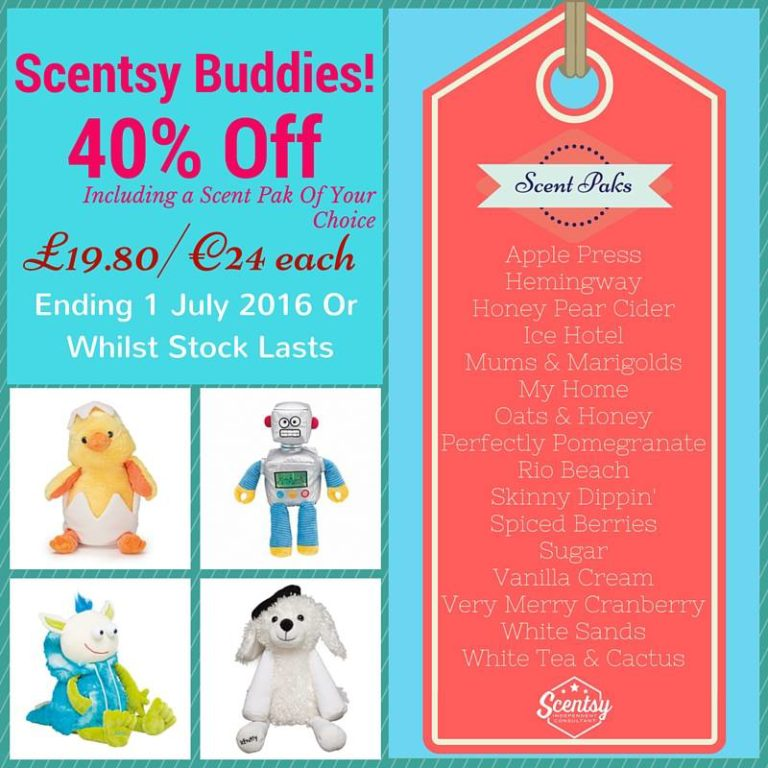 Scentsy Buddy Sale – 40% Off Selected Scented Soft Toys