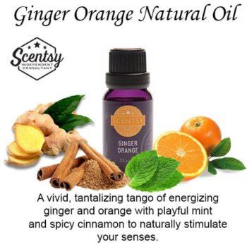 Ginger Orange Scentsy Diffuser Natural Oil