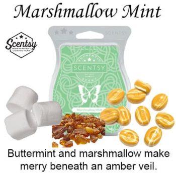 Marshmallow Mint Scentsy Wax Melt