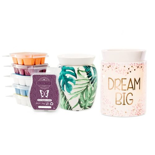 Perfect Scentsy - 2 x £42 Warmers & 6 Bar