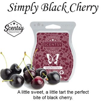 Simply Black Cherry Scentsy Wax Melt