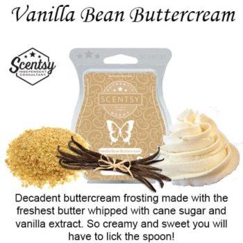 Vanilla Bean Buttercream Scentsy Wax Bar