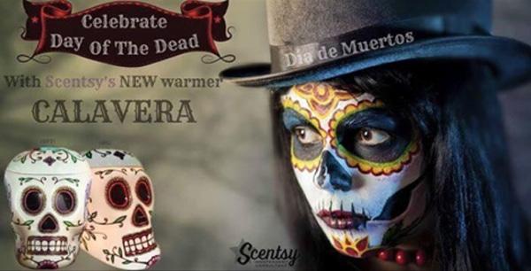 Calavera Skull Goth Scentsy Wax Warmer