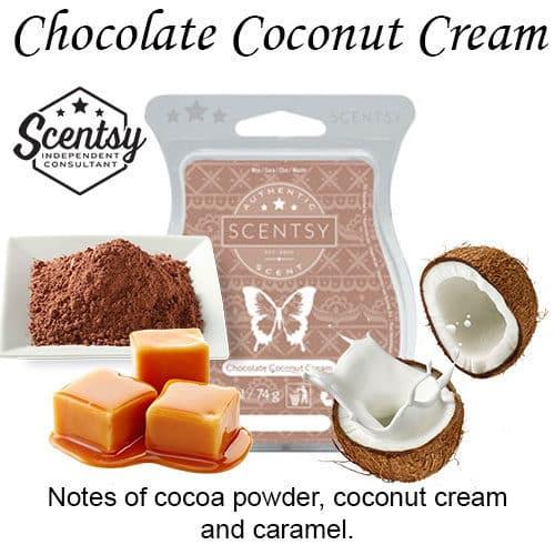 Chocolate Coconut Cream Scentsy Wax Melt
