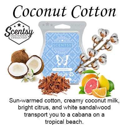 Coconut Cotton Scentsy Wax Melt