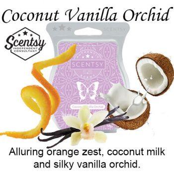 Coconut Vanilla Orchid Scentsy Wax Melt