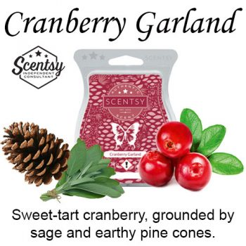 Cranberry Garland Scentsy Wax Melt