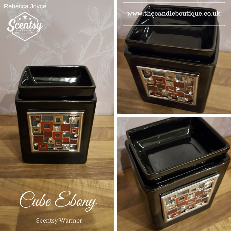 Cube Ebony Scentsy Electric Wax Warmer