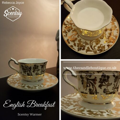 English Breakfast Teacup Saucer Scentsy Electric Wax Warmer