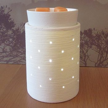 etched core scentsy warmer styled