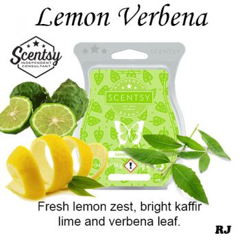 lemon verbena scentsy wax melt