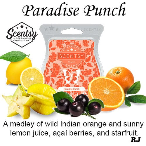 paradise punch scentsy wax melt