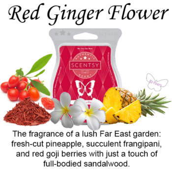 Red Ginger Flower Scentsy Bar