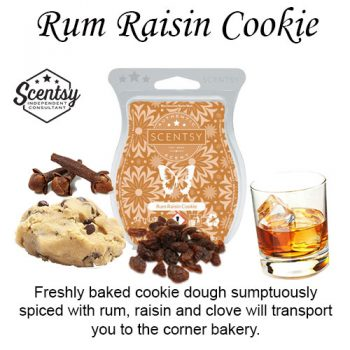 Rum Raisin Cookie Scentsy Wax Melt