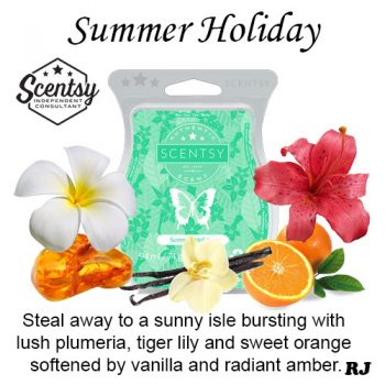 summer holiday scentsy wax melt