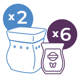 Perfect Scentsy - 2 x £36 Warmers & 6 Bars Multi-pack