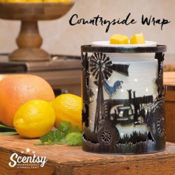 Etched Core Scentsy Warmer and Countryside Wrap