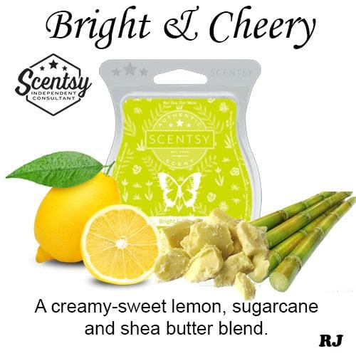 bright and cheery scentsy wax melt