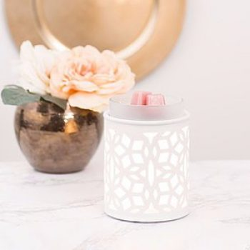 Scentsy Darling White Warmer Styled