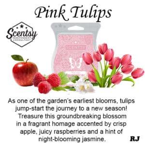 Scentsy pink tulips wax melt