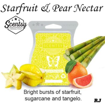 starfruit and pear nectar scentsy wax melt