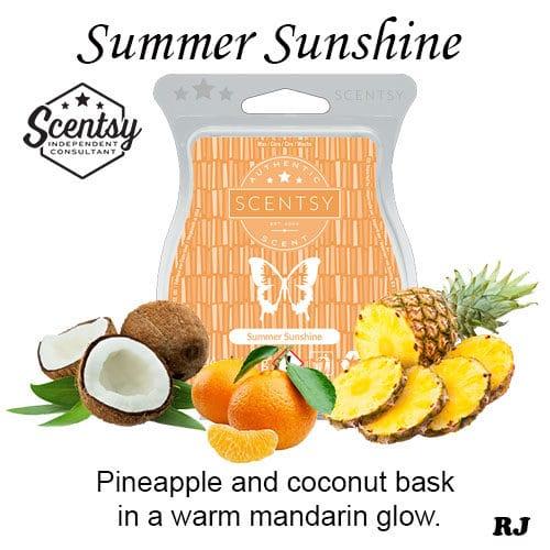 scentsy summer sunshine wax melt