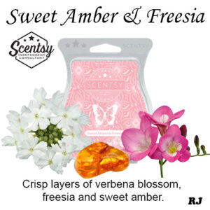 sweet amber and freesia scentsy wax melt
