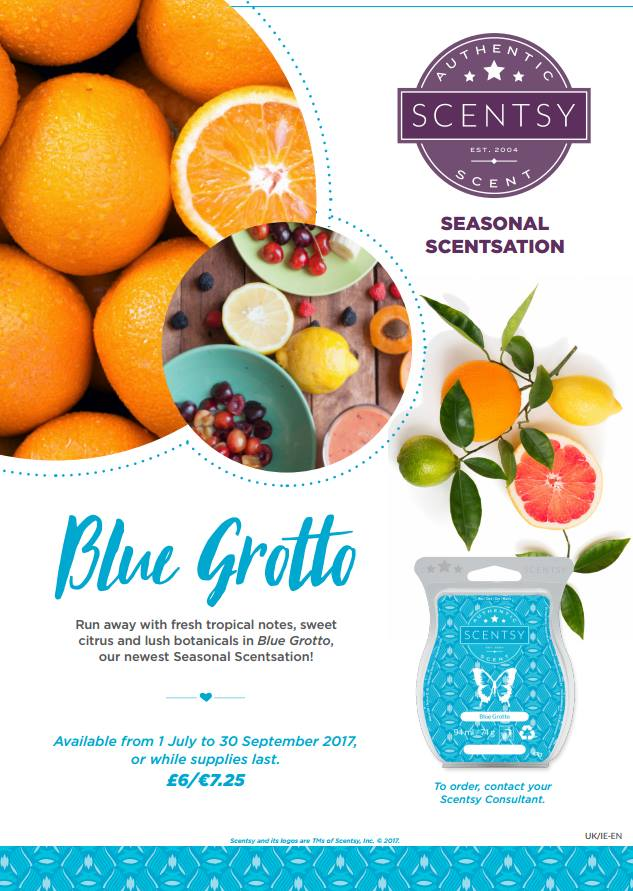Blue Grotto Seasonal Scentsation Scentsy