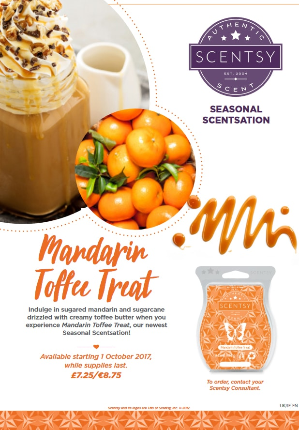 Mandarin Toffee treat