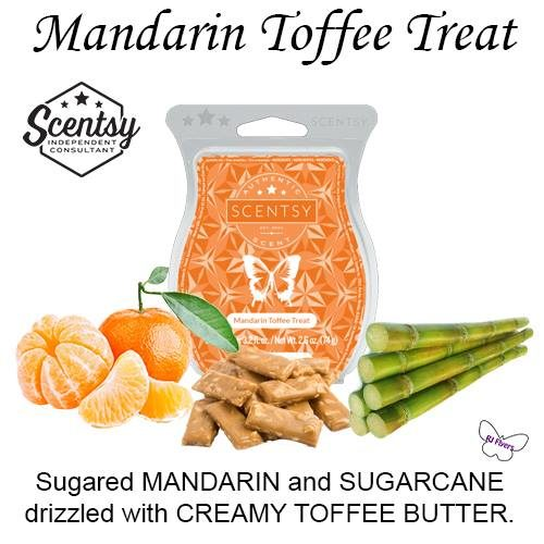 Mandarin Toffee Treat Scentsy Bar - The Candle Boutique - Scentsy UK  Consultant