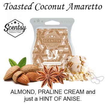 Toasted Coconut Amaretto Scentsy Bar